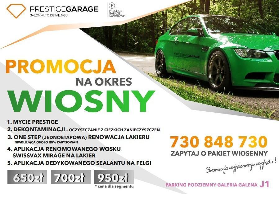Odśwież swoje auto i skorzystaj z wiosennych promocji w Prestige Garage!