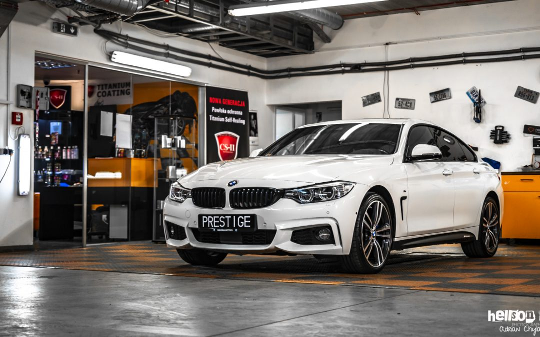 Białe BMW M4