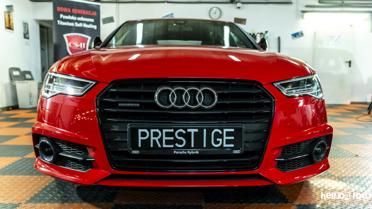 Czerwone Audi A6 S-line