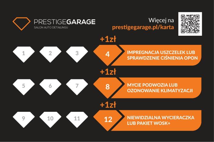 Karta rabatowa Prestige Garage 2
